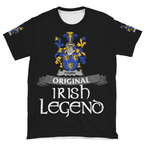 Irish Shamrock Celtic Cross Shirt, Foord Family Crest T-Shirt A7
