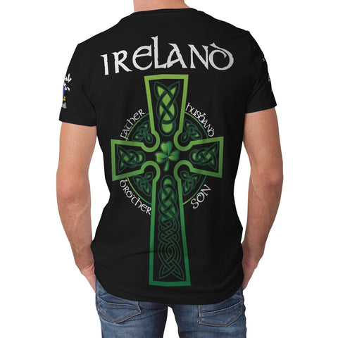 Irish Shamrock Celtic Cross Shirt, Fullam Family Crest T-Shirt A7