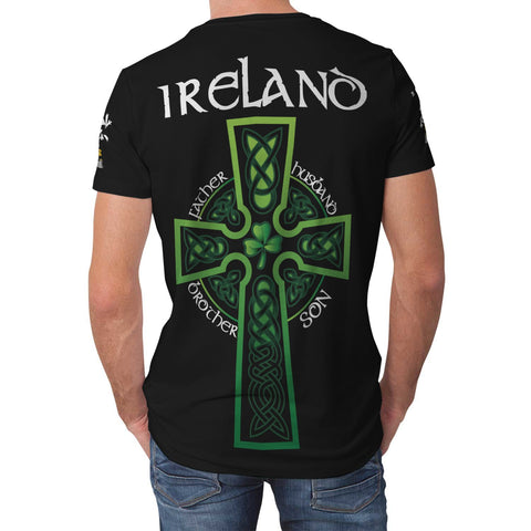 Irish Shamrock Celtic Cross Shirt, Lawless Family Crest T-Shirt A7