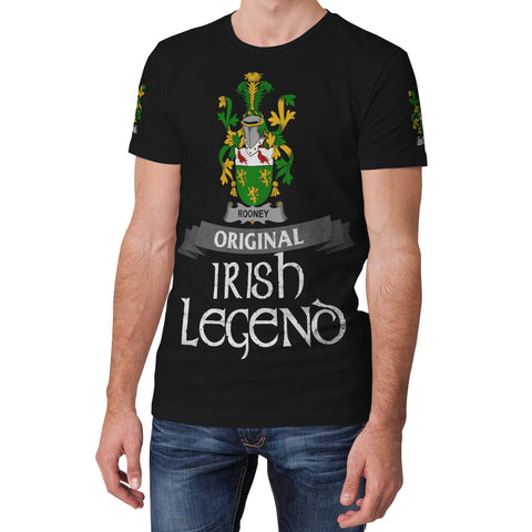 Irish Shamrock Celtic Cross Shirt, Rooney or  O'Rooney Family Crest T-Shirt A7
