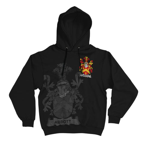 Ireland Surname Hoodie, Abbott Family Crest Coat Of Arms Pullover Hoodie | 1stireland.com