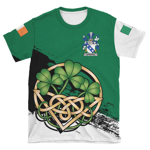 Bernard Ireland T-shirt Shamrock Celtic | Unisex Clothing