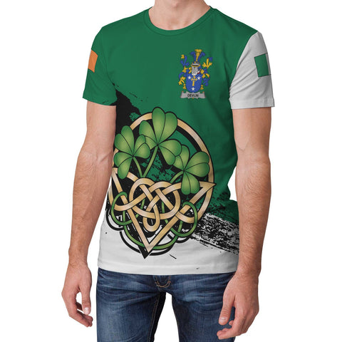 Devlin or O'Devlin Ireland T-shirt Shamrock Celtic | Unisex Clothing