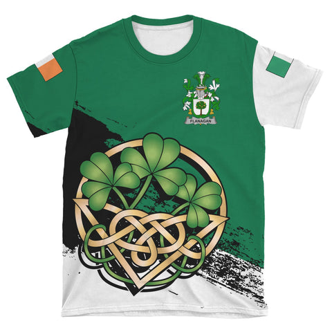 Image of Flanagan or O'Flanagan Ireland T-shirt Shamrock Celtic | Unisex Clothing