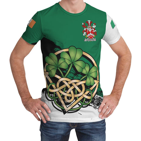 Image of Longfield Ireland T-shirt Shamrock Celtic | Unisex Clothing
