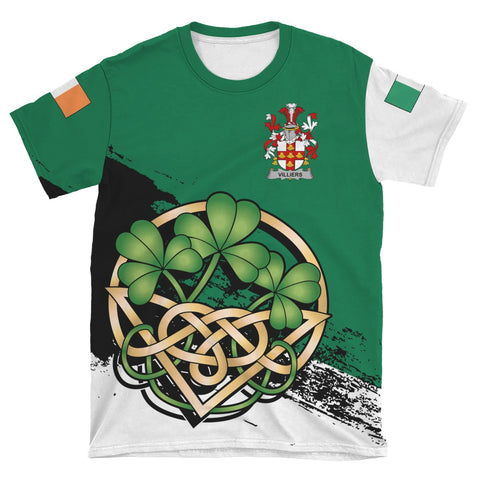 Villiers Ireland T-shirt Shamrock Celtic | Unisex Clothing