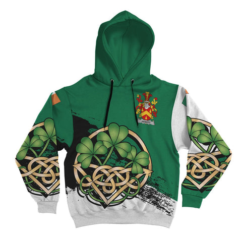 (Personalized) Ireland Surname Hoodie, Family Crest Coat Of Arms Pullover Hoodie