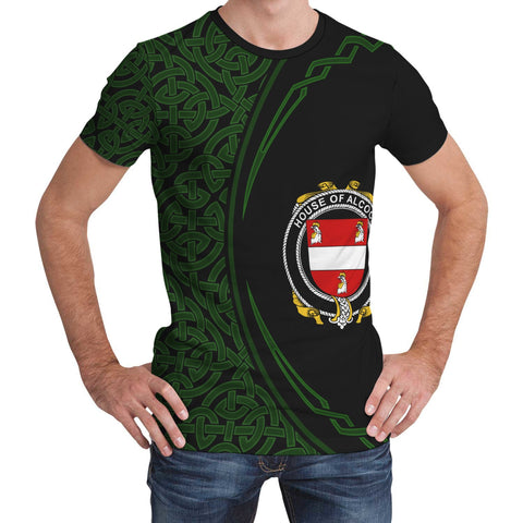 Image of Alcock Family Crest Unisex T-shirt