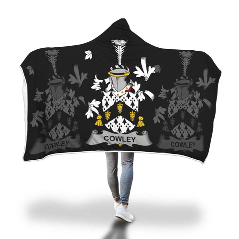 Irish Sherpa Blanket, Cowley or Cooley Family Crest Hooded Blanket A7