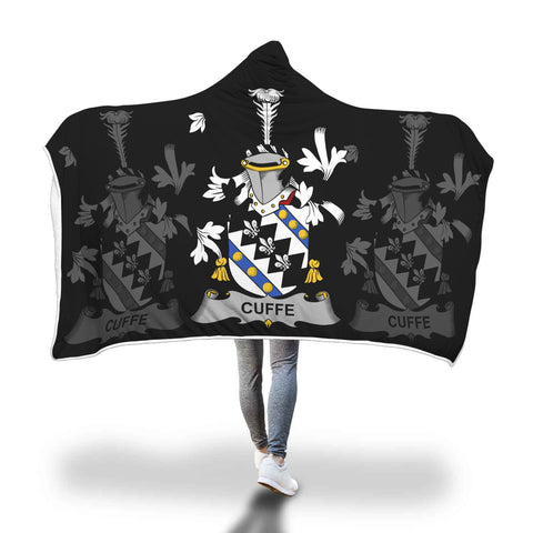 Irish Sherpa Blanket, Cuffe Family Crest Hooded Blanket A7