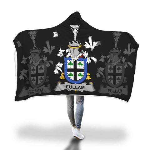 Irish Sherpa Blanket, Fullam Family Crest Hooded Blanket A7