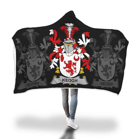 Image of Irish Sherpa Blanket, Keogh or McKeogh Family Crest Hooded Blanket A7