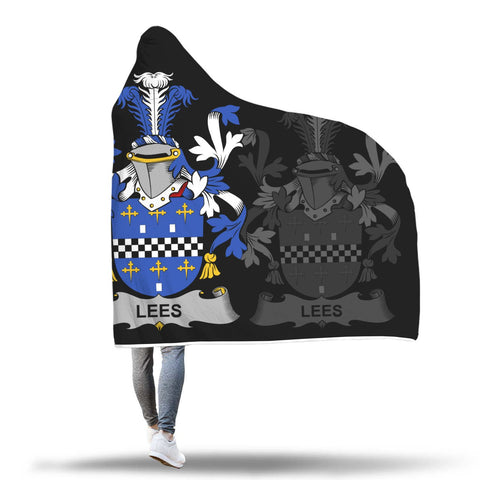 Irish Sherpa Blanket, Lees or McAleese Family Crest Hooded Blanket A7