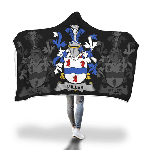 Image of Irish Sherpa Blanket, Miller Family Crest Hooded Blanket A7