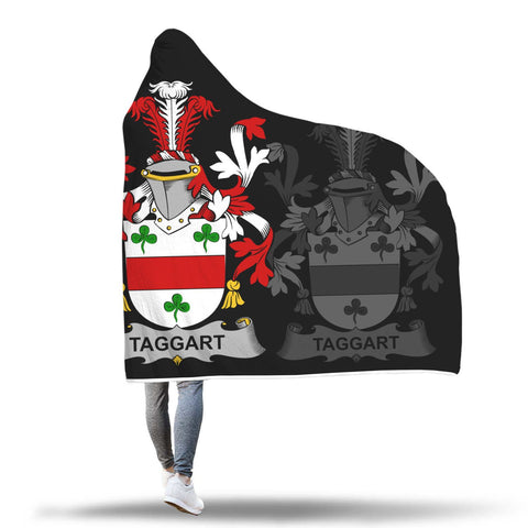 Irish Sherpa Blanket, Taggart or McEntaggart Family Crest Hooded Blanket A7