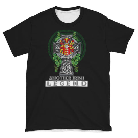 Image of Irish Celtic Cross Shirt, Brien or O'Brien Family Crest T-Shirt A7
