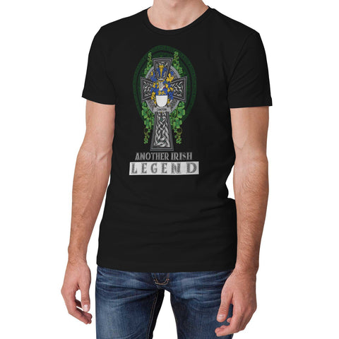 Image of Irish Celtic Cross Shirt, Canton Family Crest T-Shirt A7