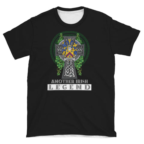 Image of Irish Celtic Cross Shirt, Cosker or McCosker Family Crest T-Shirt A7