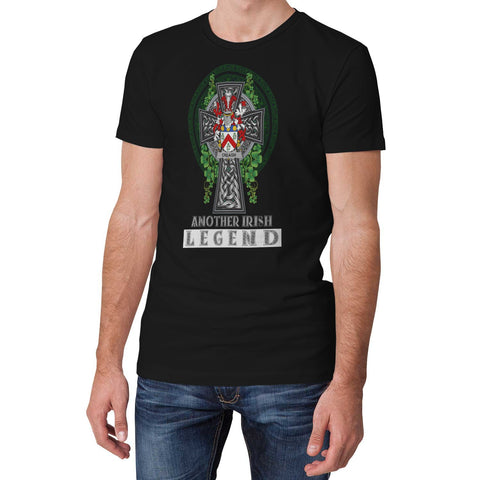 Image of Irish Celtic Cross Shirt, Creagh Family Crest T-Shirt A7