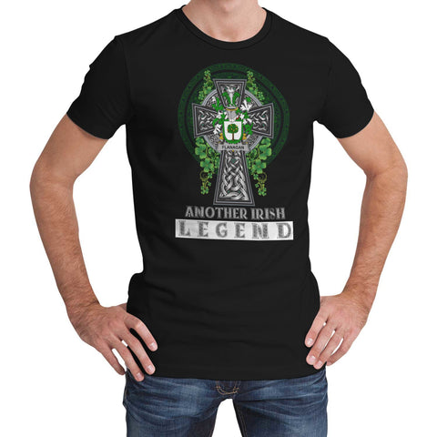 Image of Irish Celtic Cross Shirt, Flanagan or O'Flanagan Family Crest T-Shirt A7