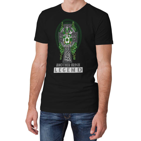 Irish Celtic Cross Shirt, Flanagan or O'Flanagan Family Crest T-Shirt A7