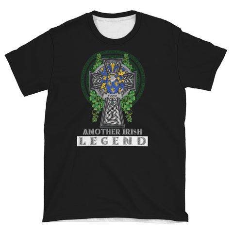 Irish Celtic Cross Shirt, Foord Family Crest T-Shirt A7