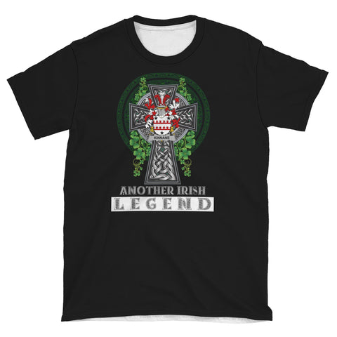 Image of Irish Celtic Cross Shirt, Kinnane or O'Kinane Family Crest T-Shirt A7