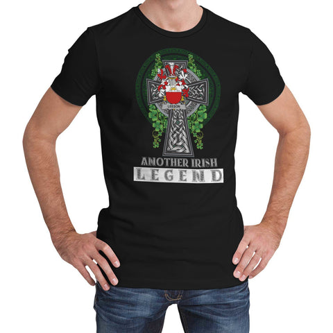 Irish Celtic Cross Shirt, Leeson Family Crest T-Shirt A7