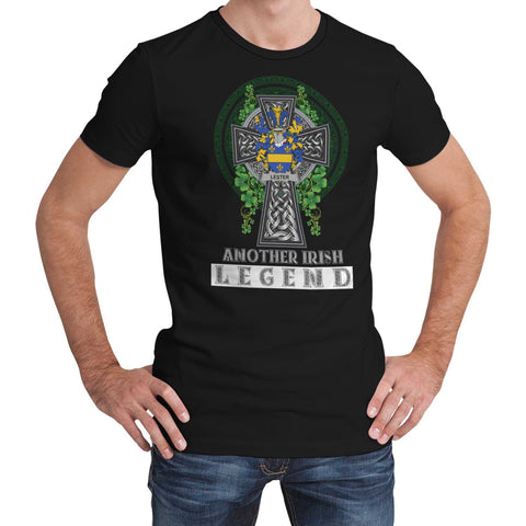 Irish Celtic Cross Shirt, Lester or McAlester Family Crest T-Shirt A7