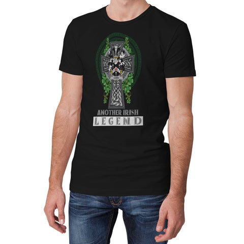 Irish Celtic Cross Shirt, Lewis Family Crest T-Shirt A7