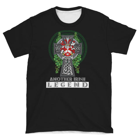 Irish Celtic Cross Shirt, Meehan or O'Meighan Family Crest T-Shirt A7