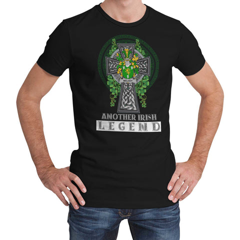 Image of Irish Celtic Cross Shirt, Melody or O'Moledy Family Crest T-Shirt A7
