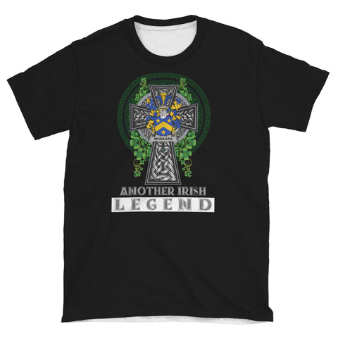 Irish Celtic Cross Shirt, Monahan or O'Monaghan Family Crest T-Shirt A7