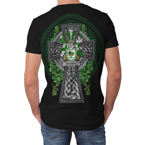 Irish Celtic Cross Shirt, Mooney or O'Mooney Family Crest T-Shirt A7