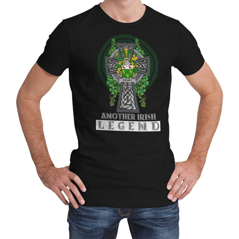 Irish Celtic Cross Shirt, Rooney or  O'Rooney Family Crest T-Shirt A7
