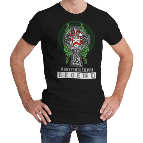 Image of Irish Celtic Cross Shirt, Walsh Family Crest T-Shirt A7