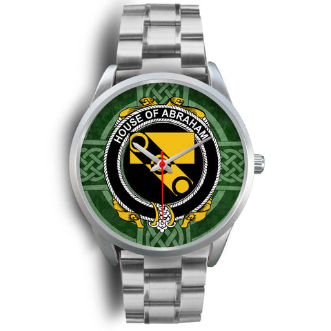 Image of Irish Watches, Abraham Family Crest Silver Ireland Watches