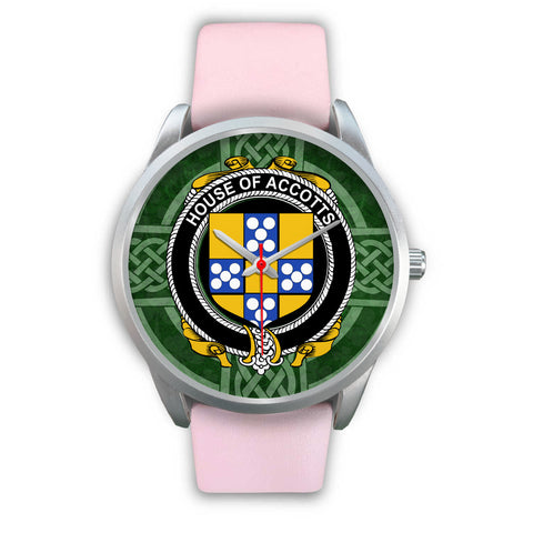 Irish Watches, Accotts Family Crest Silver Ireland Watches