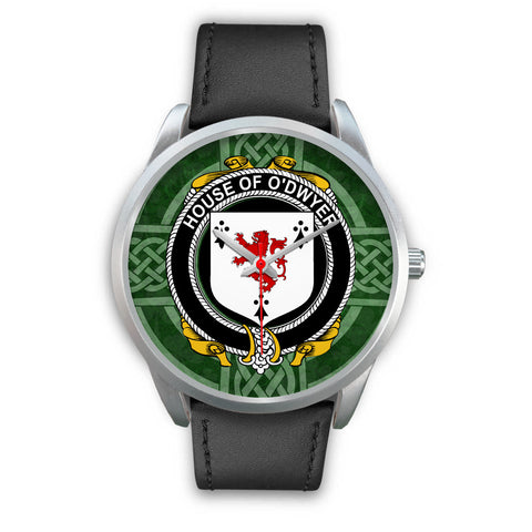 Irish Watches, Dwyer or O'Dwyer Family Crest Silver Ireland Watches