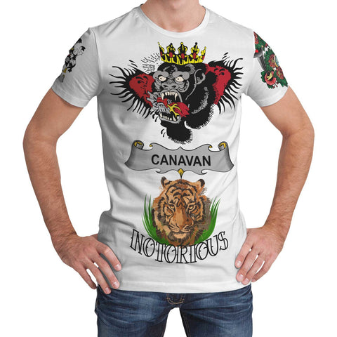 Irish Lion Shirt, Canavan or O'Canavan Family Crest Notorious T-Shirt A7