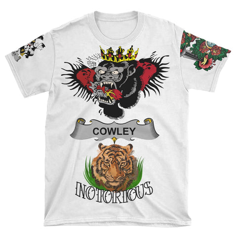 Irish Lion Shirt, Cowley or Cooley Family Crest Notorious T-Shirt A7
