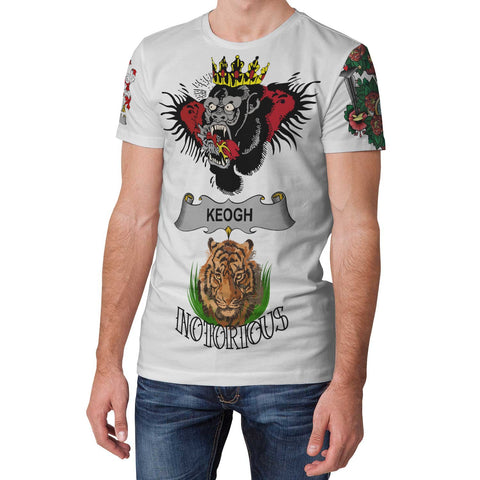Irish Lion Shirt, Keogh or McKeogh Family Crest Notorious T-Shirt A7