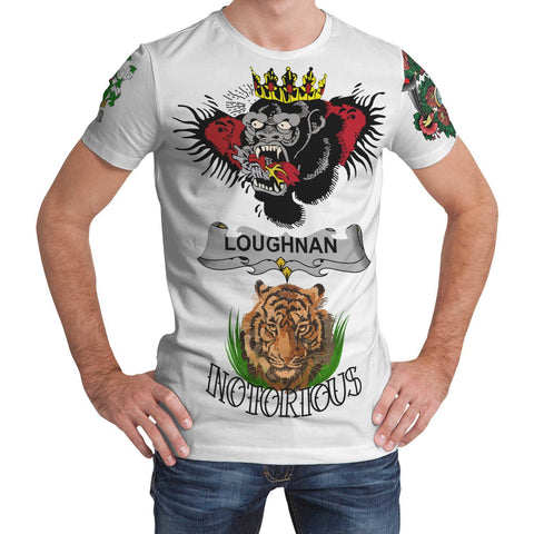 Irish Lion Shirt, Loughnan or O'Loughnan Family Crest Notorious T-Shirt A7