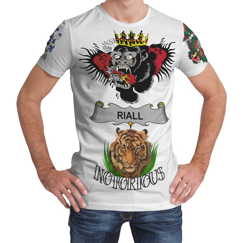 Irish Lion Shirt, Riall or Ryle Family Crest Notorious T-Shirt A7
