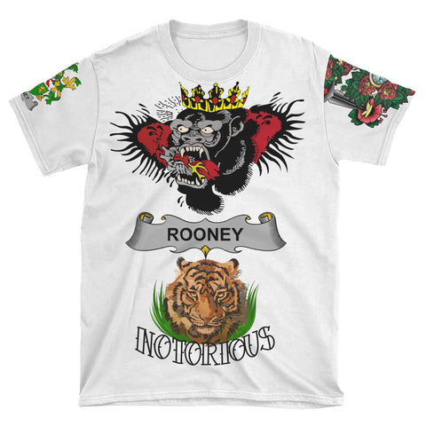 Irish Lion Shirt, Rooney or  O'Rooney Family Crest Notorious T-Shirt A7