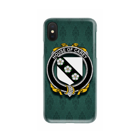 Carey or Cary Family Crest Phone Cases, Irish Coat Of Arms Slim Phone Cover