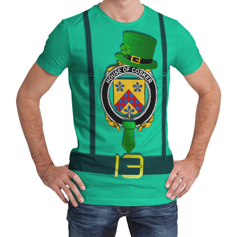 Irish Shirt, Cosker or McCosker Family Crest Saint Patrick's Day T-Shirt