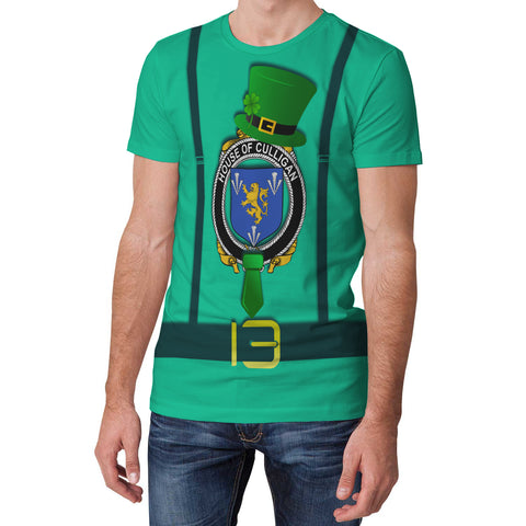 Irish Shirt, Culligan or McColgan Family Crest Saint Patrick's Day T-Shirt
