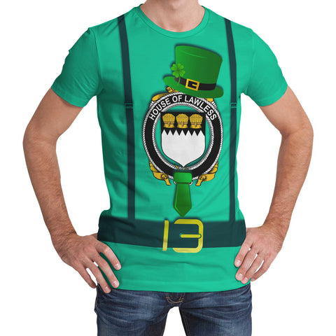 Irish Shirt, Lawless Family Crest Saint Patrick's Day T-Shirt