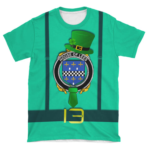 Irish Shirt, Lees or McAleese Family Crest Saint Patrick's Day T-Shirt